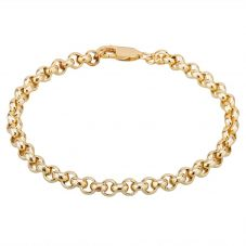 "Second Hand 9ct Yellow Gold 8.5"" Round Belcher Chain Bracelet"