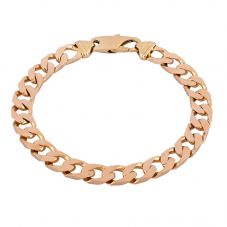 Second Hand 9ct Yellow Gold Flat Curb Chain Bracelet HGM37/01/01(08/19)
