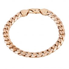 Second Hand 9ct Yellow Gold Curb Chain Bracelet HGM39/04/08(08/19)