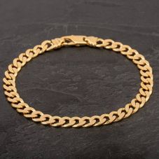 "Second Hand 9ct Yellow Gold 9"" Curb Chain Bracelet"