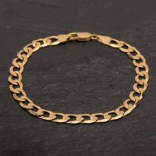 "Second Hand 9ct Yellow Gold 8"" Curb Chain Bracelet"