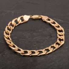 """Second Hand 9ct Yellow Gold 8"""" Curb Chain Bracelet"""