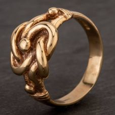 Second Hand 9ct Yellow Gold Signet Knot Ring