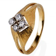 Second Hand 18ct Yellow Gold Diamond Four Stone Ring