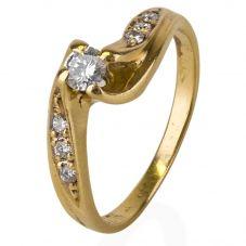 Second Hand Diamond Crossover Ring