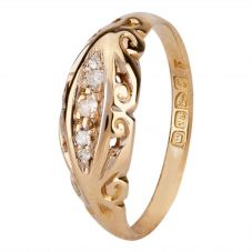 Second Hand 18ct Yellow Gold Five Stone Diamond Ring