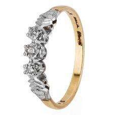 Second Hand Diamond Trilogy Ring 4111378