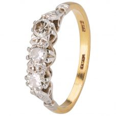 Second Hand Round Diamond Three Stone Ring