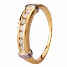 Second Hand 0.20ct Diamond Half Eternity Ring 4111693