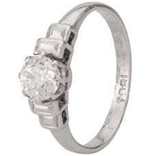 Second Hand White Gold 0.45ct Old Cut Diamond Ring 4111719