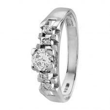 Second Hand 9ct White Gold 0.30ct Diamond Solitaire Ring