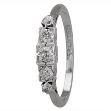 Second Hand Old Cut Diamond Five Stone Ring