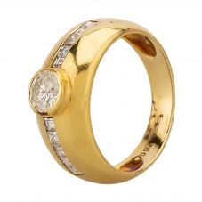 Second Hand 18ct Yellow Gold 1.00ct Diamond Solitaire Ring B.420294(394)