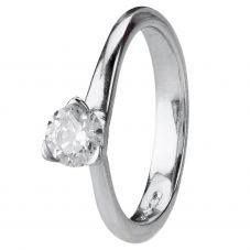 Second Hand Platinum 0.56ct Diamond Solitaire Ring