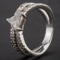 Second Hand 18ct White Gold Diamond Cocktail Ring 4112125