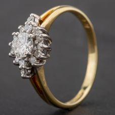 Second Hand 18ct Yellow Gold Diamond Ring 4112145