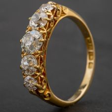 Second Hand 18ct Yellow Gold Diamond Ring 4112146
