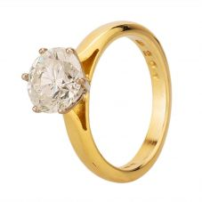 Second Hand 18ct Yellow Gold 2.00ct Diamond Solitaire Ring G471168(409)