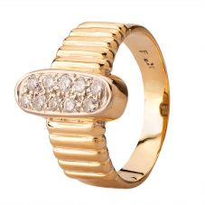 Second Hand Yellow Gold Ten Stone Diamond Fancy Ring 4112487