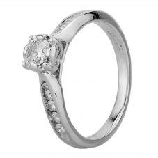 Second Hand 18ct White Gold 0.25ct Diamond Ring H511009(438)