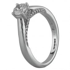 Second Hand 18ct White Gold 0.50ct Diamond Ring