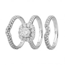 Second Hand Neil Lane 14ct White Gold 2.17ct Diamond Bridal Set