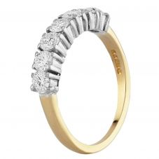 Second Hand 18ct Yellow Gold 0.70ct Diamond Half Eternity Ring