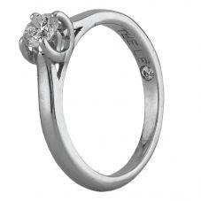 Second Hand The Leo Platinum 0.35ct Diamond Solitaire Ring