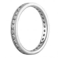 Second Hand 18ct White Gold 1.00ct Diamond Full Eternity Ring