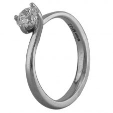 Second Hand Platinum 0.50ct Diamond Solitaire Ring