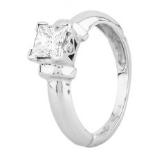 Second Hand 14ct White Gold 0.80ct Princess Cut Diamond Solitaire Ring G607018(449)