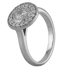 Second Hand 18ct White Gold 0.76ct Diamond Halo Ring