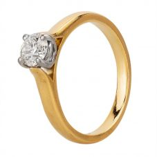 Second Hand 18ct Yellow Gold 0.75ct Diamond Solitaire Ring