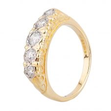 Second Hand 18ct Yellow Gold 0.30ct Five Stone Diamond Ring F606062(451)