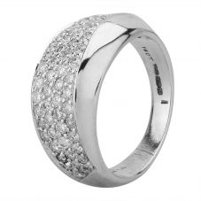 Second Hand 18ct White Gold 0.90ct Diamond Pave Set Ring R517226(455)