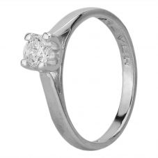 Second Hand 18ct White Gold 0.41ct Diamond Solitaire Ring C0512061(457)