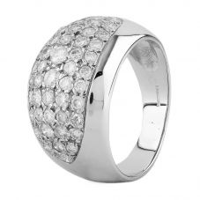 Second Hand 9ct White Gold Diamond Pave Ring L511584(458)