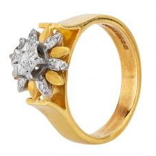 Second Hand 18ct Yellow Gold Diamond Cluster Ring HGM33/04/11(06/19)