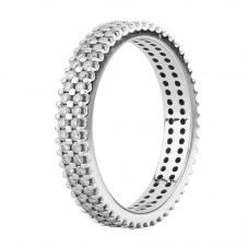 Second Hand 18ct White Gold Diamond Two Row Full Eternity Ring S605213(460)