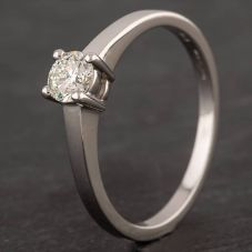 Second Hand Platinum 0.33ct Diamond Four Claw Solitaire Ring