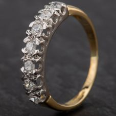 Second Hand 18ct Yellow Gold Diamond 7 Stone 1/2 Eternity Ring