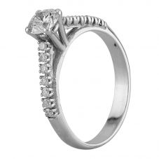 Second Hand White Gold 0.72ct Diamond Ring