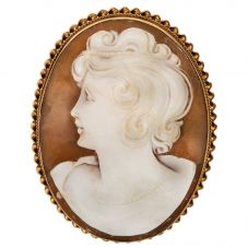 Second Hand Large Cameo Brooch