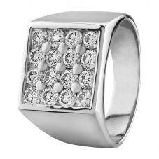 Second Hand Platinum 2.40ct Diamond Signet Ring