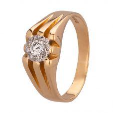 Second Hand 18ct Yellow Gold Mens 0.20ct Diamond Set Signet Ring 4115616