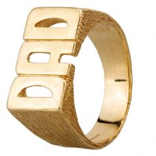 Second Hand 9ct Yellow Gold Dad Ring