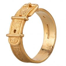Second Hand 9ct Yellow Gold Buckle Ring HGM22/02/09(02/19)
