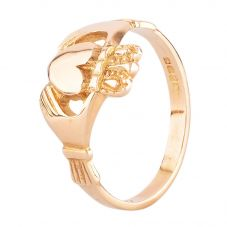 Second Hand 14ct Yellow Gold Claddagh Ring HGM33/03/16(06/19)