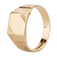 Second Hand 9ct Yellow Gold Square Signet Ring