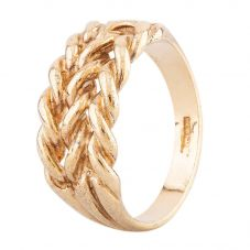 Second Hand Yellow Gold Triple Twist Chain Ring HGM37/03/20(08/19)